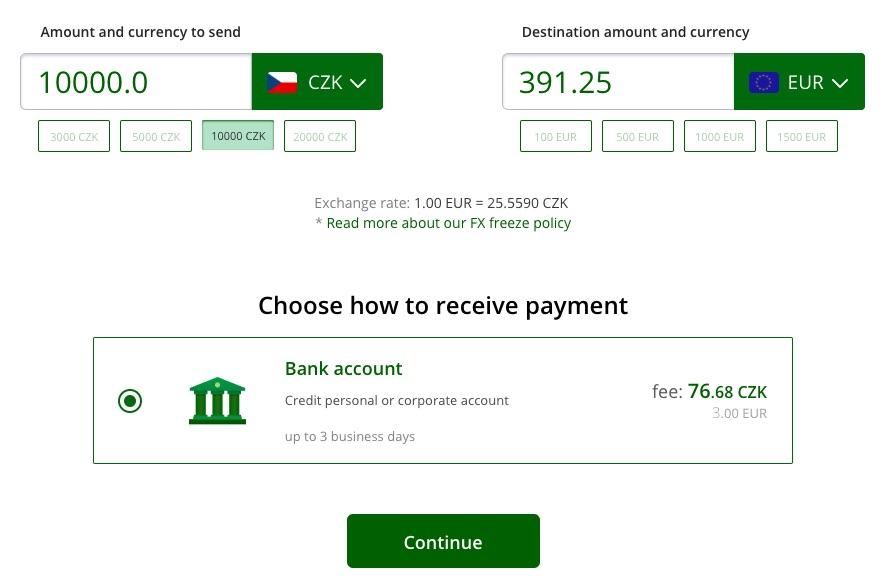 moneypolo poplatky za převod