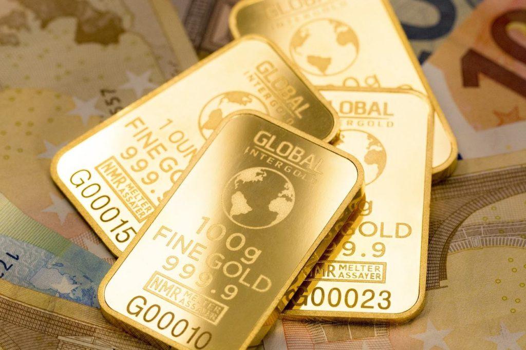 bakovní účet ve zlatě
